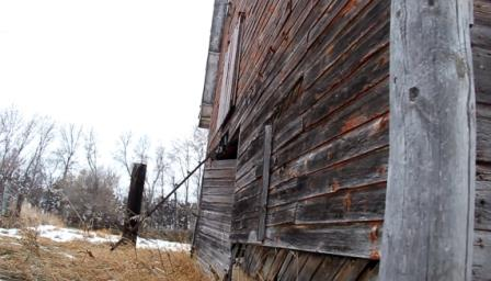 An old barn on a hunting property