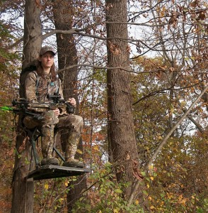 nancy owens in tree stand