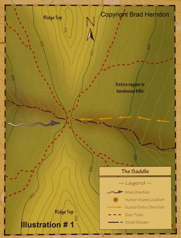 How to map trophy deer, the saddle guide, by Brad Herndon