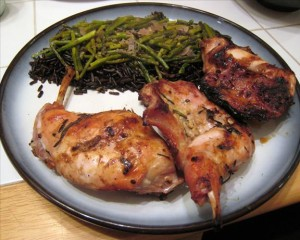 grilled rabbit with rosemary & garlic