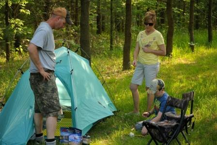 Kids can help a number of ways during family camping