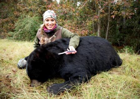 Eva Shockey has been under attack from people against hunting