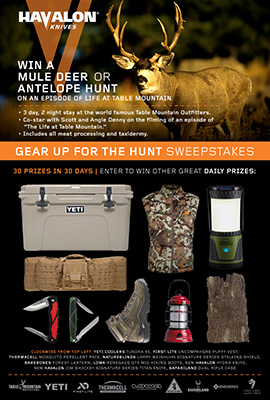 Havalon Gear Up for the Hunt sweepstakes