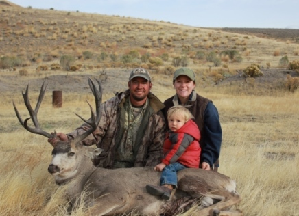 The McCoy family with their latest deer hunting catch