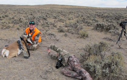 Joey Peterson antelope hunt photos in Wyoming with Angie Denny-crop