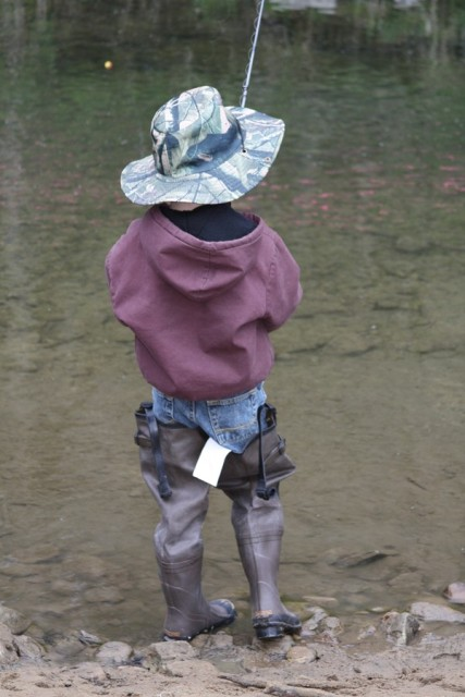 Encourage children fishing at an early age.