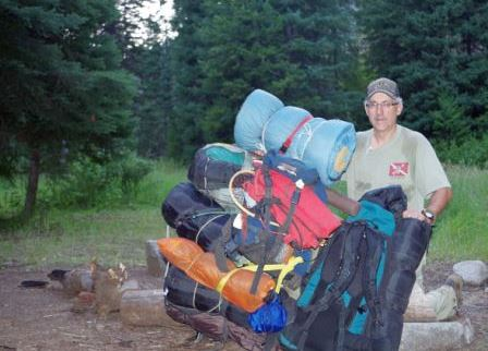 backpacking packs filled with essential hunting supplies for a trip