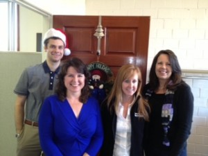 (l-r) Ryan, Robyn, Jackie and Bev in the Havalon marketing office.