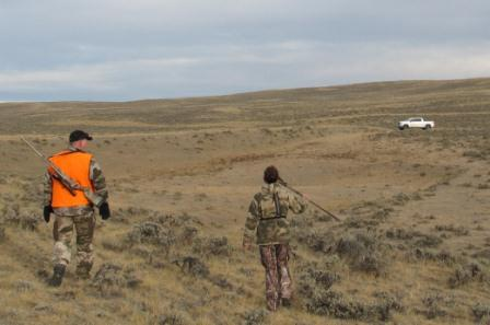 Wyoming antelope hunt with Table Mountain Outfitters back to truck