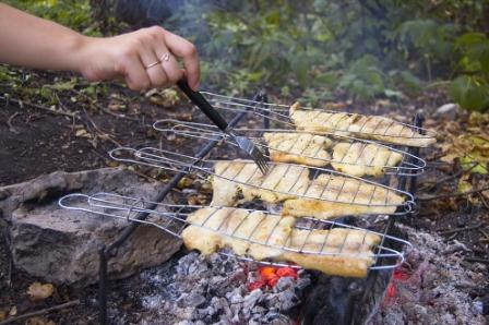 Bass Fishing Tips Cooking Over Campfire