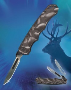 Black stag hunting knife and skinning knife