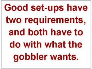 Good set-ups have two requirements