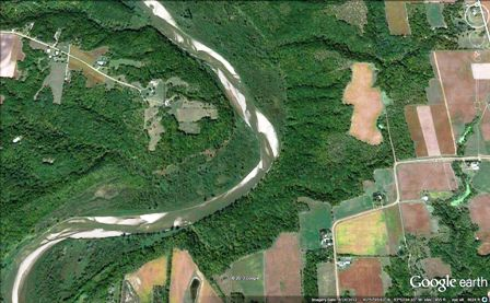 google earth view of bend in river against bluff 448x277