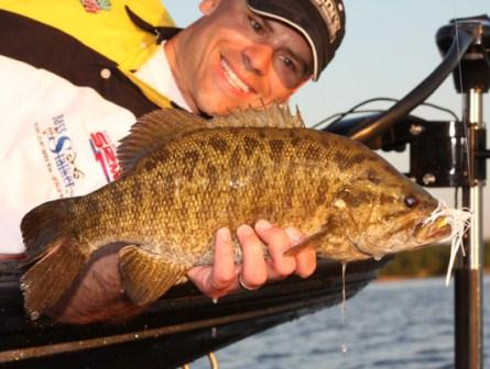 Image of smallmouth bass taken from Green Bay, WI