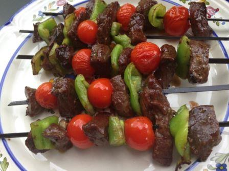 Venison steak kabobs
