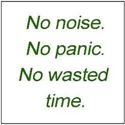 no noise no panic text box