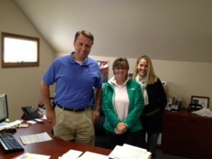 (l-r) John, Shelly and Chris in the Havalon sales office.