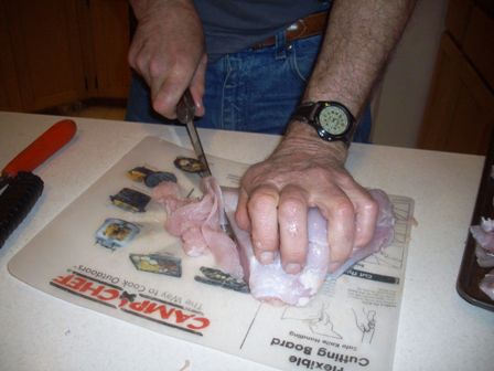slightly frozen turkey meat better for slicing 448x336