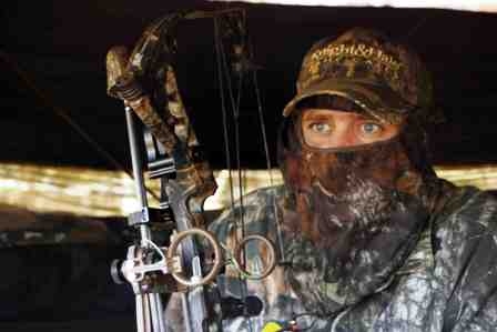 use hunting blind when bowhunting turkeys 448x299