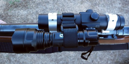 We mounted this XLR 100 red light onto our Ultradot sight.